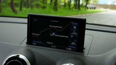 Audi A3 Cabriolet - sat nav screen