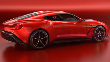 Aston Martin Vanquish Zagato - rear quarter