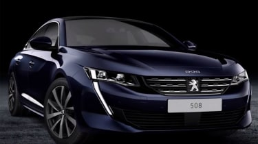 Peugeot 508 leaked - front close-up