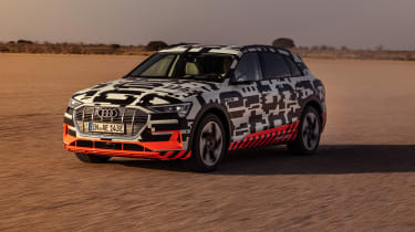 Audi e-tron Prototype review - front tracking