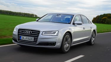 Audi A8 saloon 2014 front track