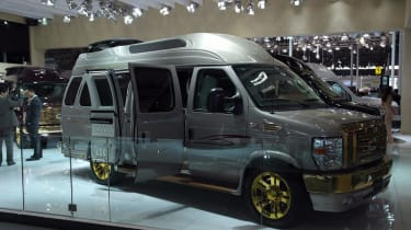 """<span size=""""2"""" style=""""font-size: small;""""><span face=""""Tahoma, Verdana, Helvetica, Arial"""" style=""""font-family: Tahoma, Verdana, Helvetica, Arial;""""><span>There were just as many modified vans on display as there were cars, with this partic"""