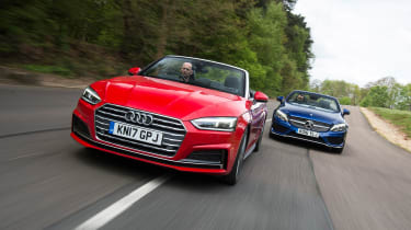 Audi A5 Cabriolet vs Mercedes C-Class Cabriolet - head-to-head