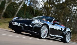 Porsche 911 Turbo Cabriolet 2016 - front tracking 2