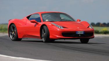 Ferrari 458 Italia corner