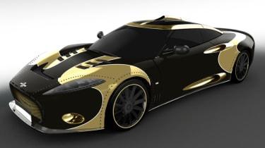 Spyker C8 Aileron - gold