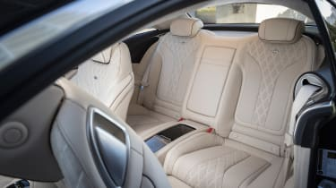 Mercedes S-Class coupe - back seats