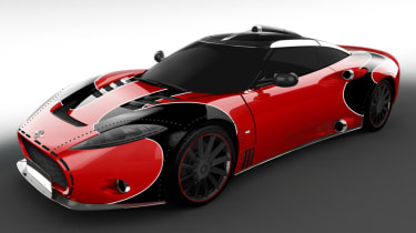 Spyker C8 Aileron - red front