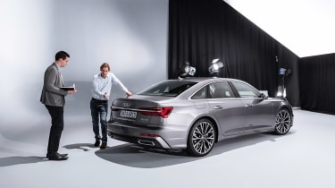 New Audi A6 - studio rear inspection