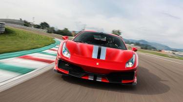 Ferrari 488 Pista - full front track