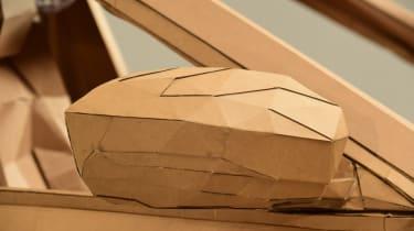 Cardboard Skoda Karoq wing mirror