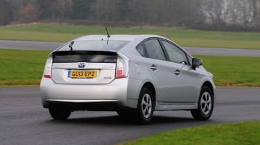 Toyota Prius plug-in 2013 rear action