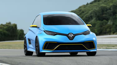 Renault ZOE E-Sport concept - front tracking