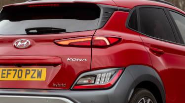 New Hyundai Kona Hybrid 2021 review - rear