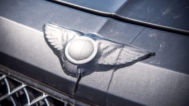 Bentley Bentayga prototype first drive - badge