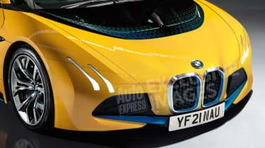 BMW i5 2021 render - front close