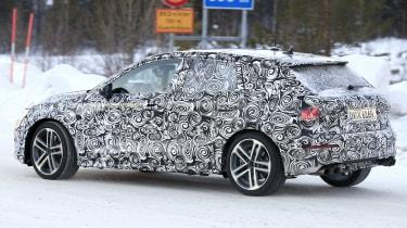 Audi S3 spies - winter rear 3/4
