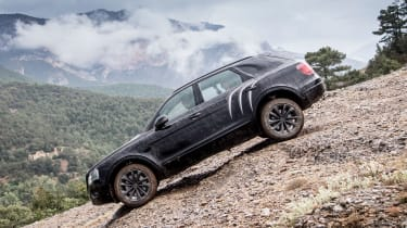 Bentley Bentayga prototype first drive - downhill