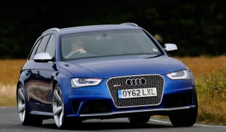 Audi RS4 front cornering