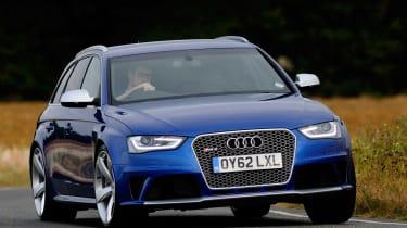 Audi RS4 front cornering