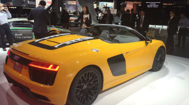 Audi R8 Spyder New York show 2016 rear