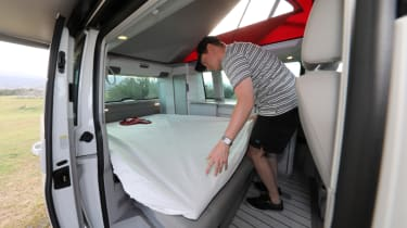 Volkswagen California bed making