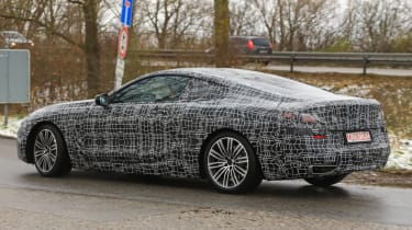 BMW 8 Series - spy shot rear quarter