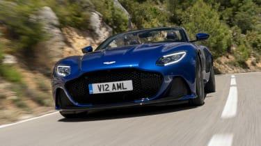 Aston Martin DBS Superleggera Volante - full front tracking