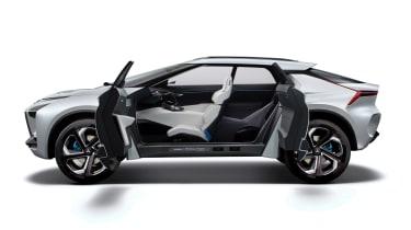 Mitsubishi e-Evolution concept - side doors open