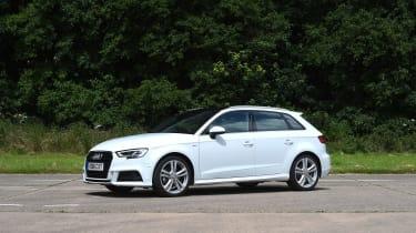 Audi A3 vs Volvo V40 vs Volkswagen Golf - A3 front three quarter