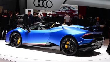 New Lamborghini Huracan Performante Spyder rear quarter