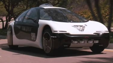 GM ultralite police car demolition man