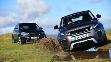 BMW X1 v Range Rover Evoque off road