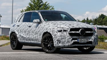Mercedes AMG GLE 63 spy shot front quarter