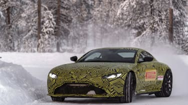 Aston Martin Vantage prototype - front action