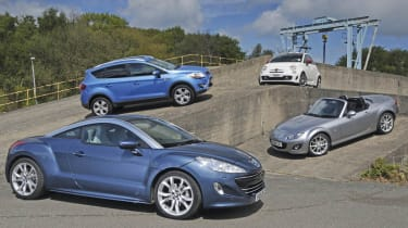 Peugeot RCZ vs. stylish rivals