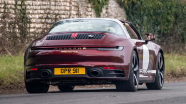 Porsche 911 Targa 4S Heritage Design Edition - rear cornering