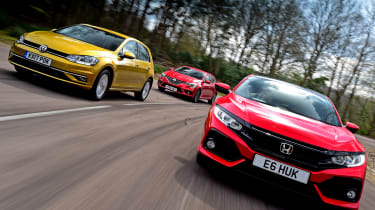 Honda Civic vs Volkswagen Golf vs Renault Megane - header