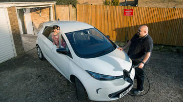 Warren Philips in front of Renault ZOE