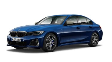 Leaked BMW 3 Series - front blue