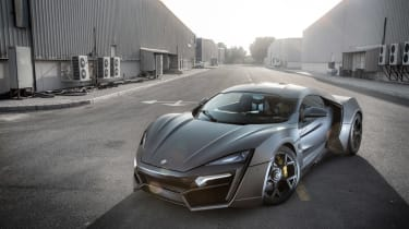 The Lykan Hypersport costs around £2.2million.