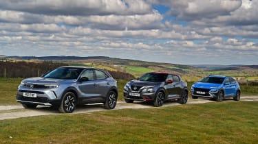 Vauxhall Mokka vs Hyundai Kona vs Nissan Juke