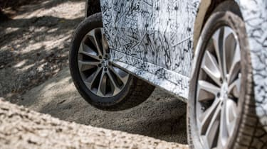 Mercedes GLE prototype - off-road close-up