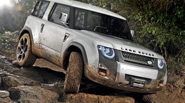 Land Rover DC100 front three-quarters