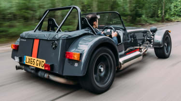 Caterham Seven road trip - 620S rear