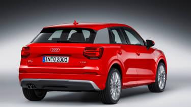Audi Q2 Red rear studio