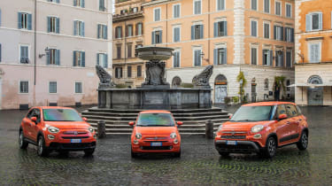 Fiat 2021 range orange