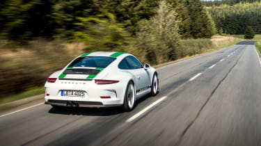 Porsche 911 R - rear action