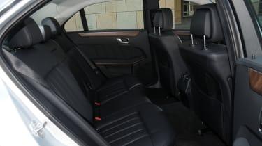 Mercedes E300 BlueTEC Hybrid rear seats