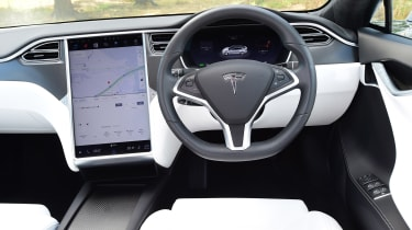 tesla model s interior dashboard